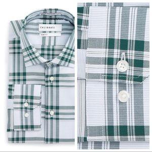 Other - Green & Blue Plaid Men's Dress Shirt